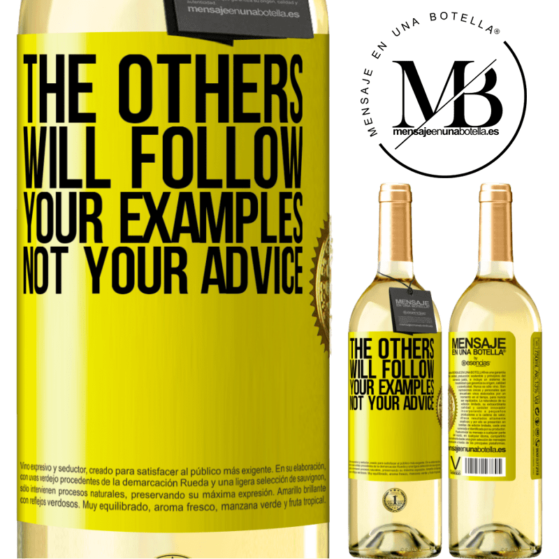 24,95 € Free Shipping | White Wine WHITE Edition The others will follow your examples, not your advice Yellow Label. Customizable label Young wine Harvest 2020 Verdejo
