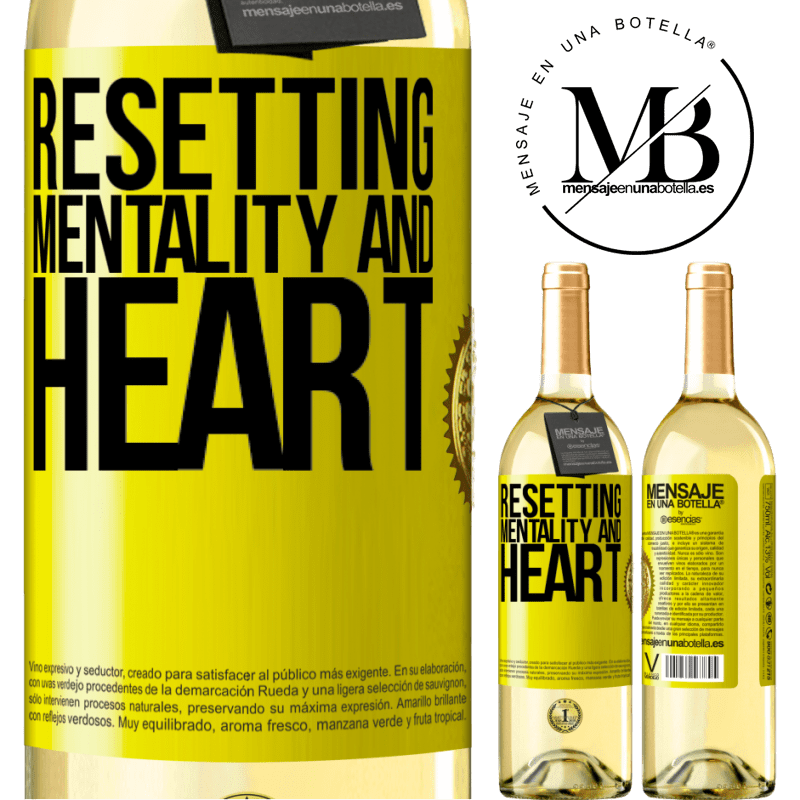 24,95 € Free Shipping | White Wine WHITE Edition Resetting mentality and heart Yellow Label. Customizable label Young wine Harvest 2020 Verdejo