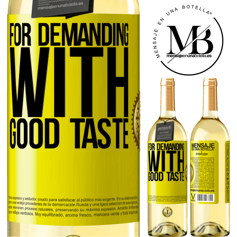 24,95 € Free Shipping | White Wine WHITE Edition For demanding with good taste Yellow Label. Customizable label Young wine Harvest 2020 Verdejo