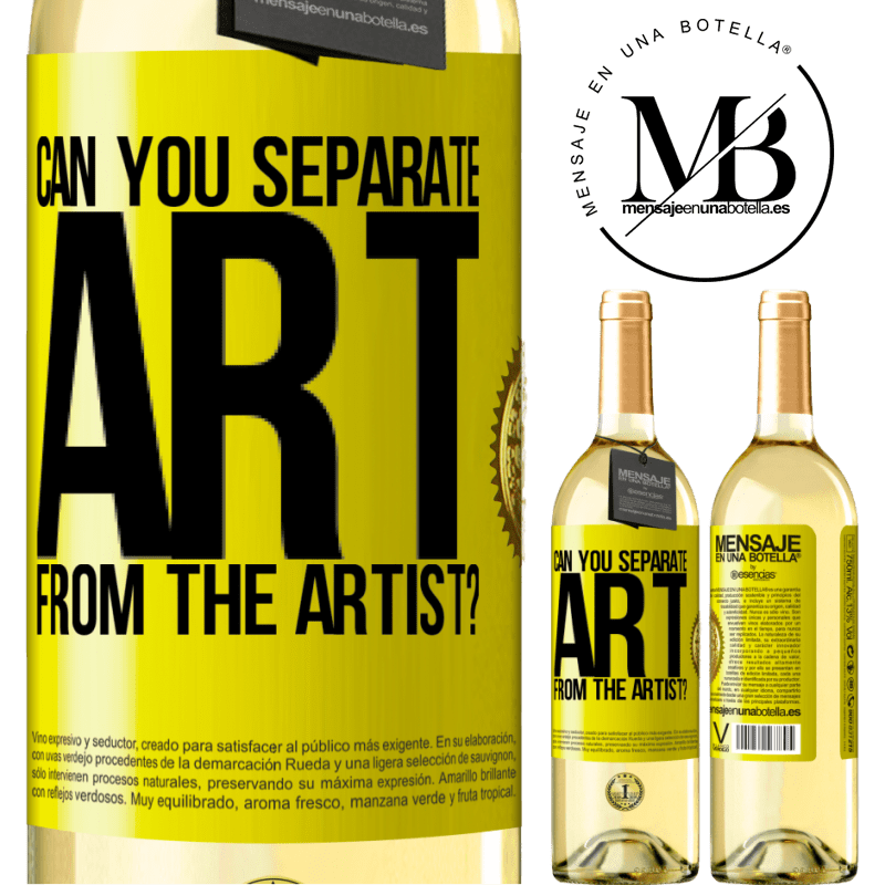 24,95 € Free Shipping   White Wine WHITE Edition can you separate art from the artist? Yellow Label. Customizable label Young wine Harvest 2020 Verdejo