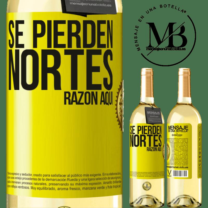 24,95 € Envoi gratuit   Vin blanc Édition WHITE Les Nortes sont perdus. Raison ici Étiquette Jaune. Étiquette personnalisable Vin jeune Récolte 2020 Verdejo
