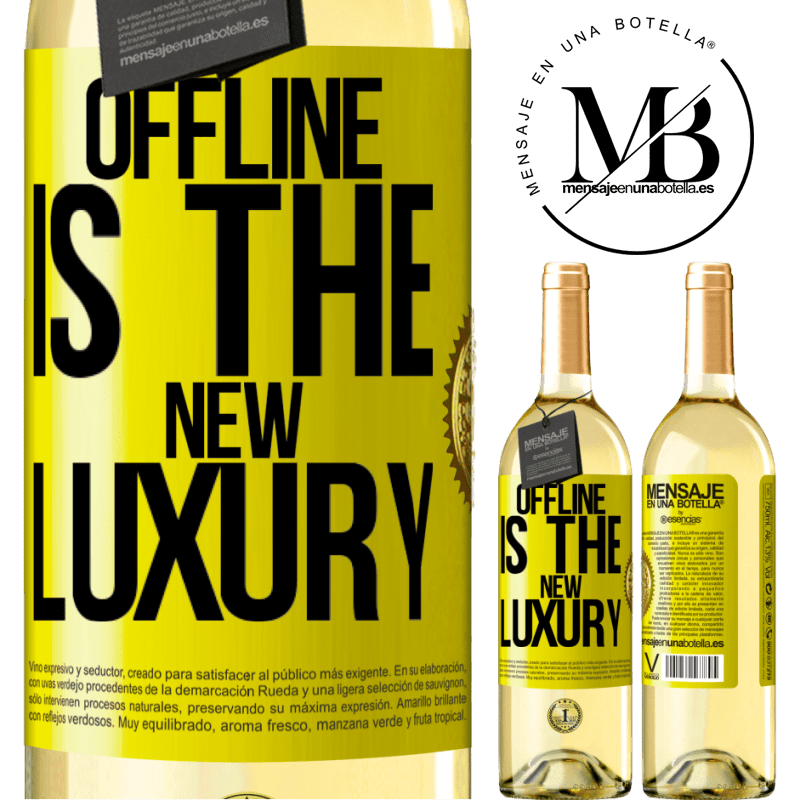 24,95 € Free Shipping | White Wine WHITE Edition Offline is the new luxury Yellow Label. Customizable label Young wine Harvest 2020 Verdejo
