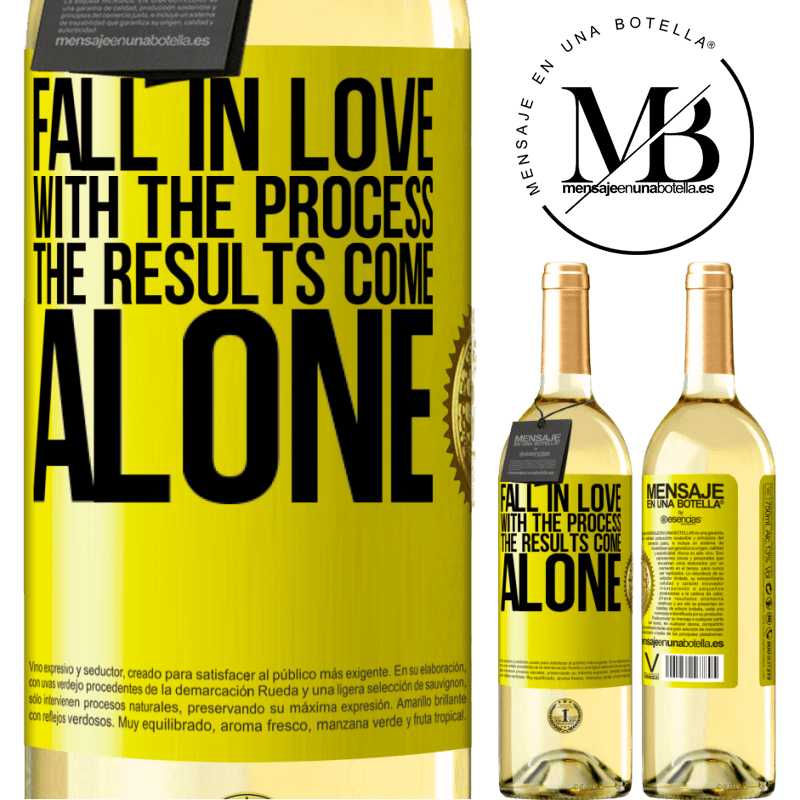 24,95 € Free Shipping | White Wine WHITE Edition Fall in love with the process, the results come alone Yellow Label. Customizable label Young wine Harvest 2020 Verdejo