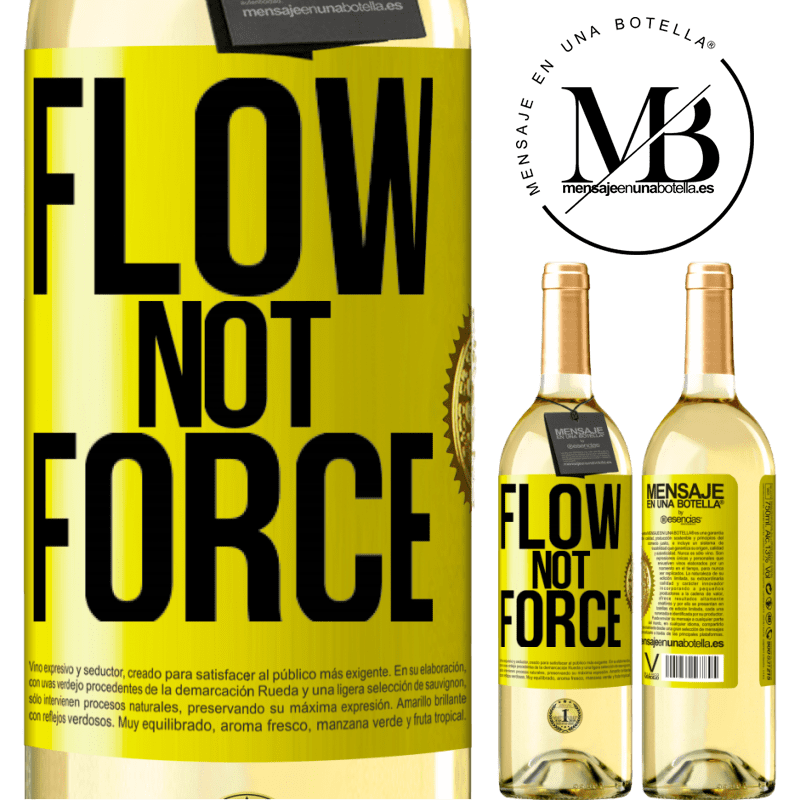 24,95 € Free Shipping   White Wine WHITE Edition Flow, not force Yellow Label. Customizable label Young wine Harvest 2020 Verdejo