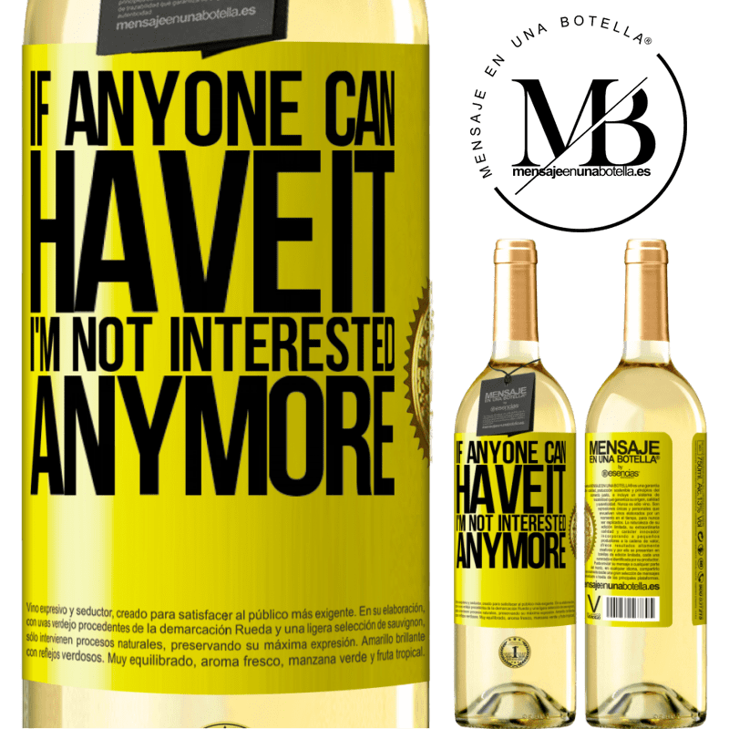 24,95 € Free Shipping | White Wine WHITE Edition If anyone can have it, I'm not interested anymore Yellow Label. Customizable label Young wine Harvest 2020 Verdejo
