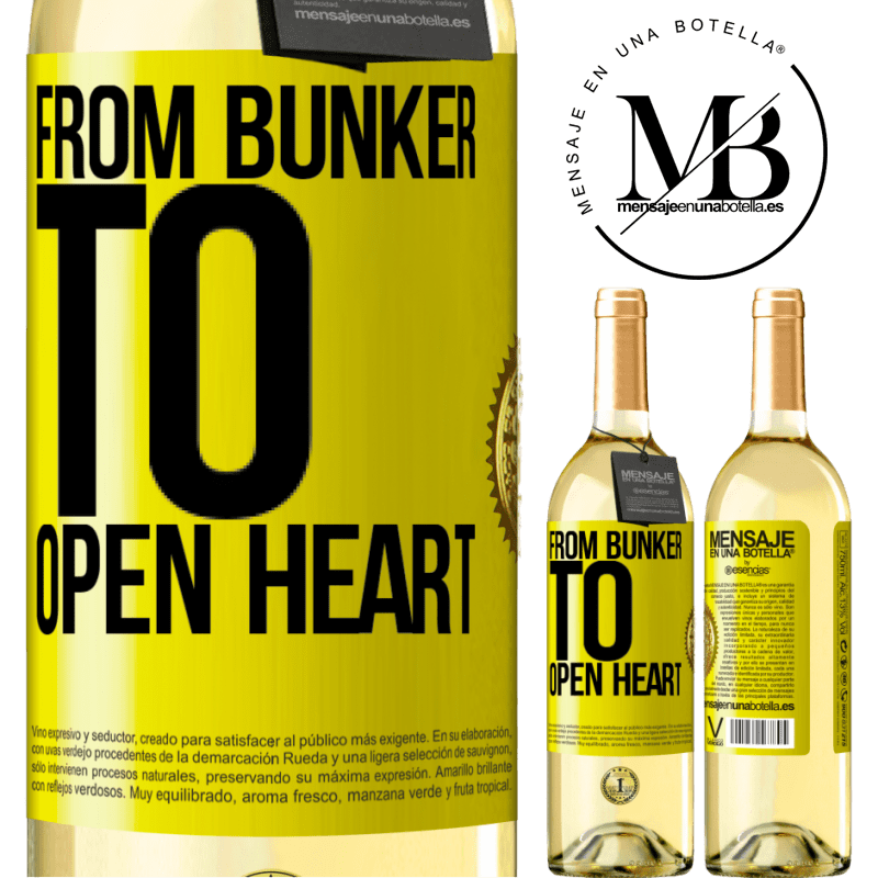 24,95 € Free Shipping   White Wine WHITE Edition From bunker to open heart Yellow Label. Customizable label Young wine Harvest 2020 Verdejo