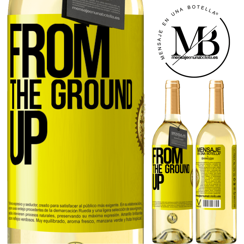 24,95 € Free Shipping | White Wine WHITE Edition From The Ground Up Yellow Label. Customizable label Young wine Harvest 2020 Verdejo