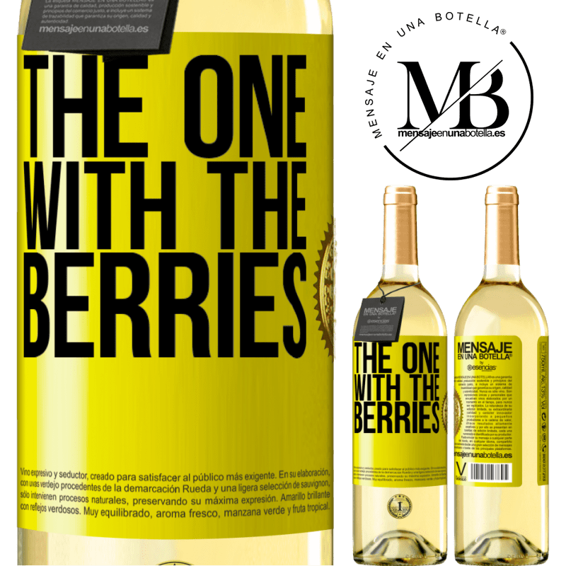 24,95 € Free Shipping | White Wine WHITE Edition The one with the berries Yellow Label. Customizable label Young wine Harvest 2020 Verdejo