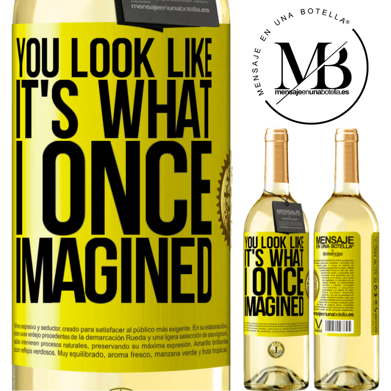 24,95 € Free Shipping | White Wine WHITE Edition You look like it's what I once imagined Yellow Label. Customizable label Young wine Harvest 2020 Verdejo