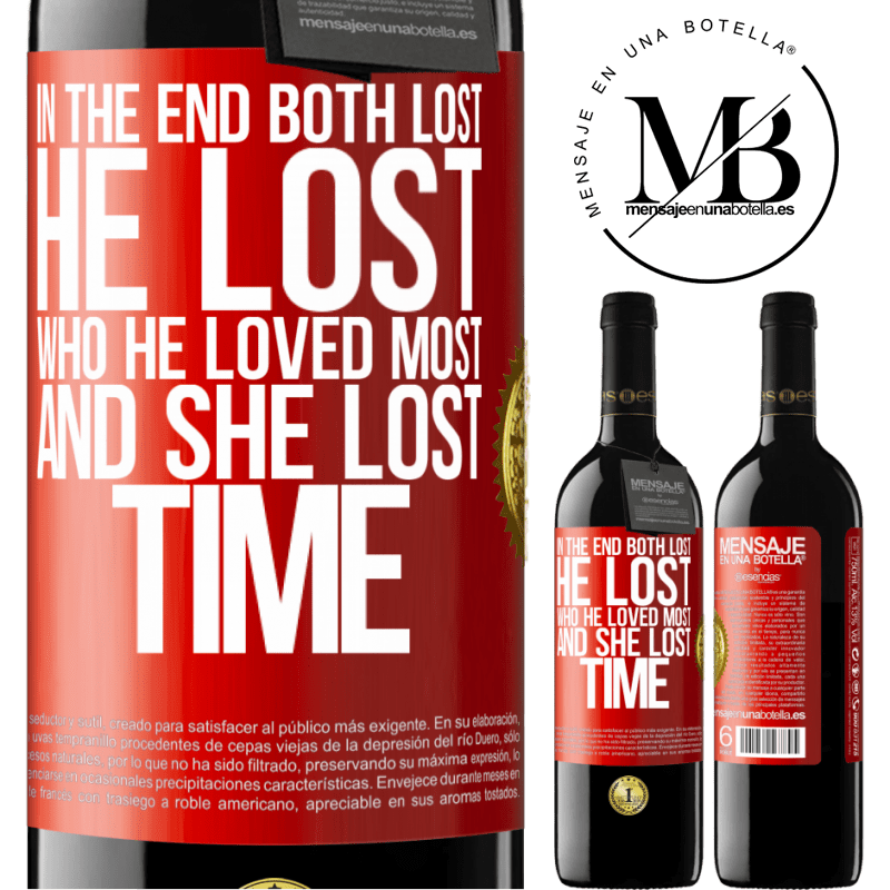 24,95 € Free Shipping | Red Wine RED Edition Crianza 6 Months In the end, both lost. He lost who he loved most, and she lost time Red Label. Customizable label Aging in oak barrels 6 Months Harvest 2018 Tempranillo
