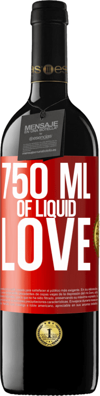 24,95 € | Red Wine RED Edition Crianza 6 Months 750 ml of liquid love Red Label. Customizable label Aging in oak barrels 6 Months Harvest 2018 Tempranillo