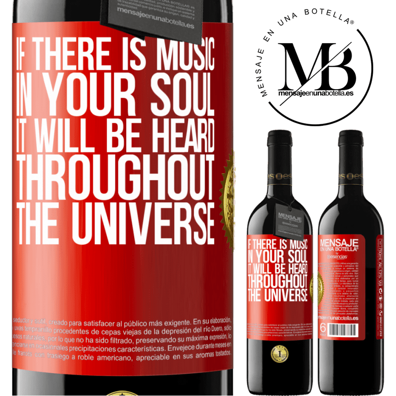 24,95 € Free Shipping | Red Wine RED Edition Crianza 6 Months If there is music in your soul, it will be heard throughout the universe Red Label. Customizable label Aging in oak barrels 6 Months Harvest 2018 Tempranillo