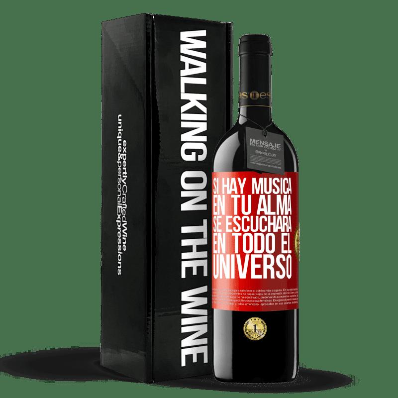24,95 € Envoi gratuit   Vin rouge Édition RED Crianza 6 Mois S'il y a de la musique dans votre âme, elle sera entendue dans l'univers Étiquette Rouge. Étiquette personnalisable Vieillissement en fûts de chêne 6 Mois Récolte 2018 Tempranillo