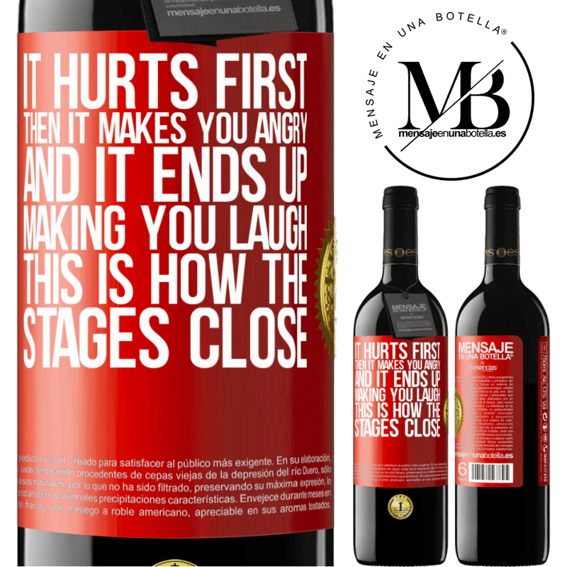24,95 € Free Shipping | Red Wine RED Edition Crianza 6 Months It hurts first, then it makes you angry, and it ends up making you laugh. This is how the stages close Red Label. Customizable label Aging in oak barrels 6 Months Harvest 2018 Tempranillo