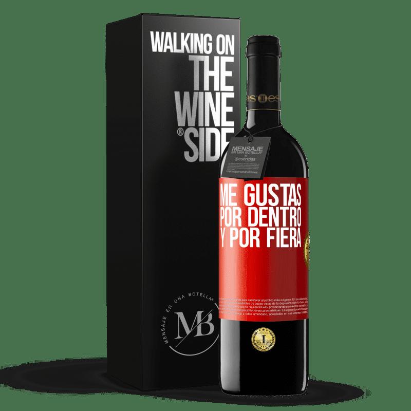 24,95 € Envoi gratuit   Vin rouge Édition RED Crianza 6 Mois Je t'aime à l'intérieur comme à l'extérieur Étiquette Rouge. Étiquette personnalisable Vieillissement en fûts de chêne 6 Mois Récolte 2018 Tempranillo