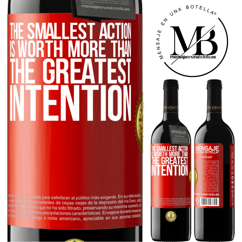 24,95 € Free Shipping | Red Wine RED Edition Crianza 6 Months The smallest action is worth more than the greatest intention Red Label. Customizable label Aging in oak barrels 6 Months Harvest 2018 Tempranillo