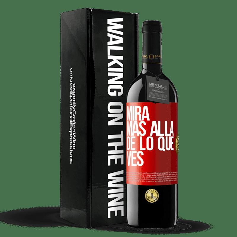 24,95 € Envoi gratuit   Vin rouge Édition RED Crianza 6 Mois Regardez au-delà de ce que vous voyez Étiquette Rouge. Étiquette personnalisable Vieillissement en fûts de chêne 6 Mois Récolte 2018 Tempranillo