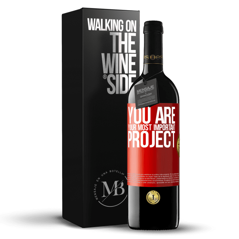 24,95 € Free Shipping | Red Wine RED Edition Crianza 6 Months You are your most important project Red Label. Customizable label Aging in oak barrels 6 Months Harvest 2018 Tempranillo