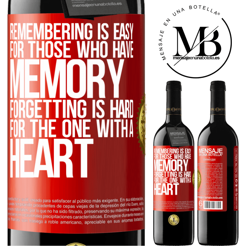 24,95 € Free Shipping | Red Wine RED Edition Crianza 6 Months Remembering is easy for those who have memory. Forgetting is hard for the one with a heart Red Label. Customizable label Aging in oak barrels 6 Months Harvest 2018 Tempranillo