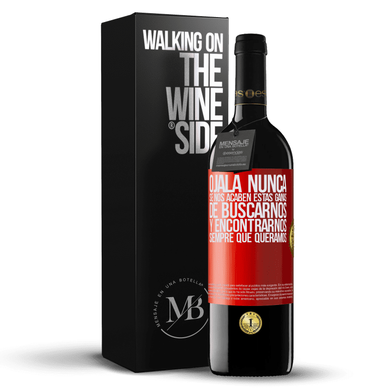 24,95 € Envoi gratuit | Vin rouge Édition RED Crianza 6 Mois J'espère que nous ne manquerons jamais de ce désir de trouver et de rencontrer quand nous le voulons Étiquette Rouge. Étiquette personnalisable Vieillissement en fûts de chêne 6 Mois Récolte 2018 Tempranillo