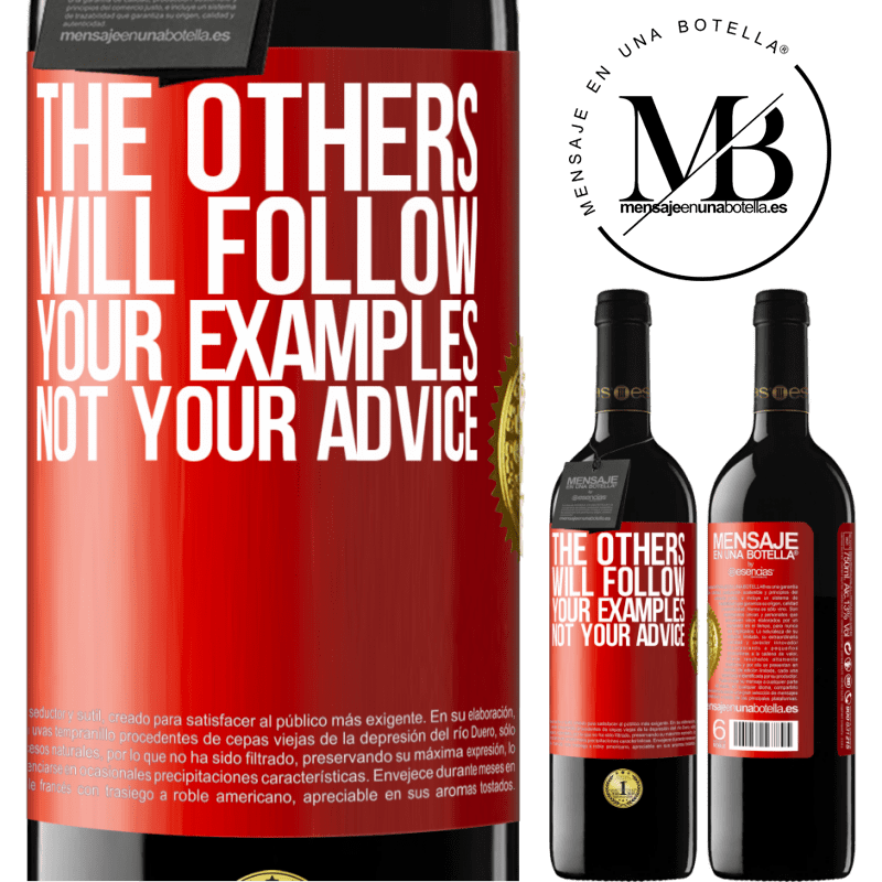 24,95 € Free Shipping | Red Wine RED Edition Crianza 6 Months The others will follow your examples, not your advice Red Label. Customizable label Aging in oak barrels 6 Months Harvest 2018 Tempranillo