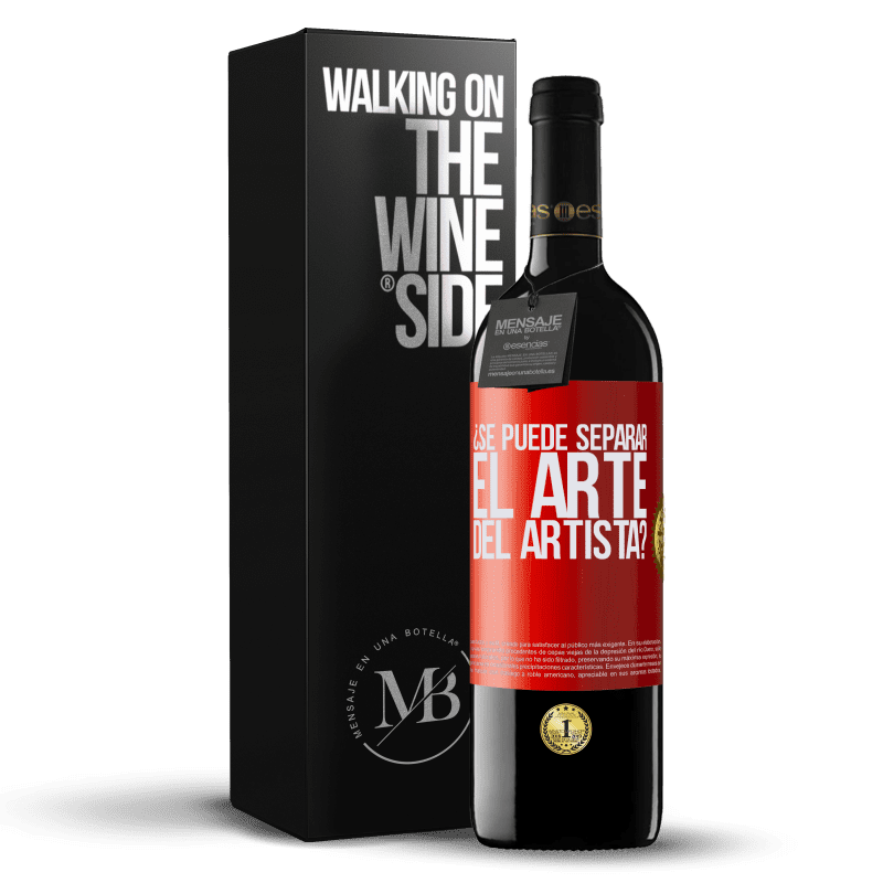24,95 € Envoi gratuit | Vin rouge Édition RED Crianza 6 Mois pouvez-vous séparer l'art de l'artiste? Étiquette Rouge. Étiquette personnalisable Vieillissement en fûts de chêne 6 Mois Récolte 2018 Tempranillo