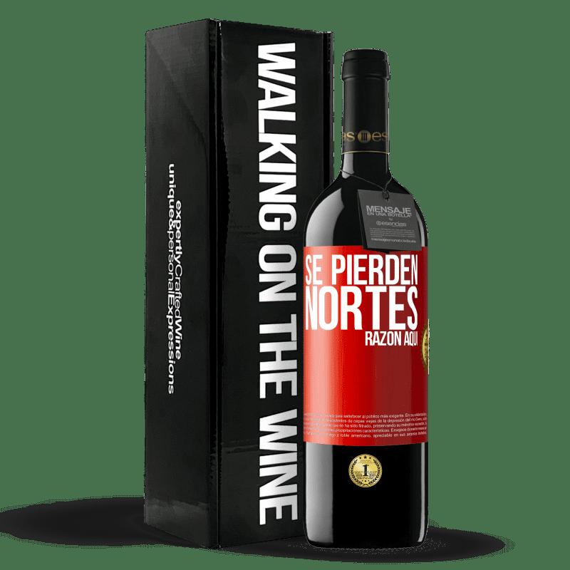 24,95 € Envoi gratuit   Vin rouge Édition RED Crianza 6 Mois Les Nortes sont perdus. Raison ici Étiquette Rouge. Étiquette personnalisable Vieillissement en fûts de chêne 6 Mois Récolte 2018 Tempranillo