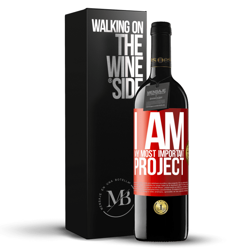 24,95 € Free Shipping | Red Wine RED Edition Crianza 6 Months I am my most important project Red Label. Customizable label Aging in oak barrels 6 Months Harvest 2018 Tempranillo