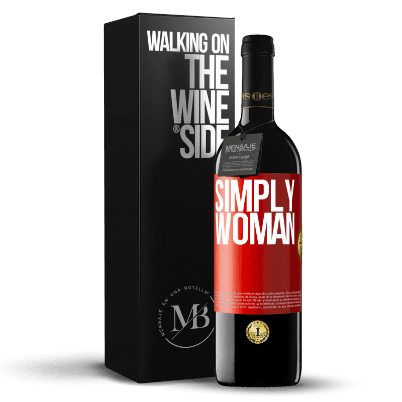 24,95 € Free Shipping | Red Wine RED Edition Crianza 6 Months Simply woman Red Label. Customizable label Aging in oak barrels 6 Months Harvest 2018 Tempranillo
