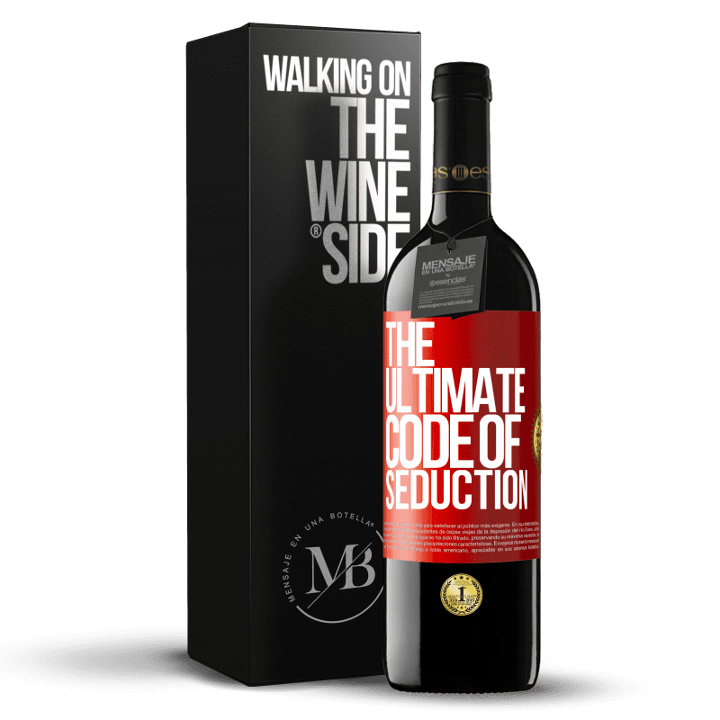 24,95 € Free Shipping | Red Wine RED Edition Crianza 6 Months The ultimate code of seduction Red Label. Customizable label Aging in oak barrels 6 Months Harvest 2018 Tempranillo
