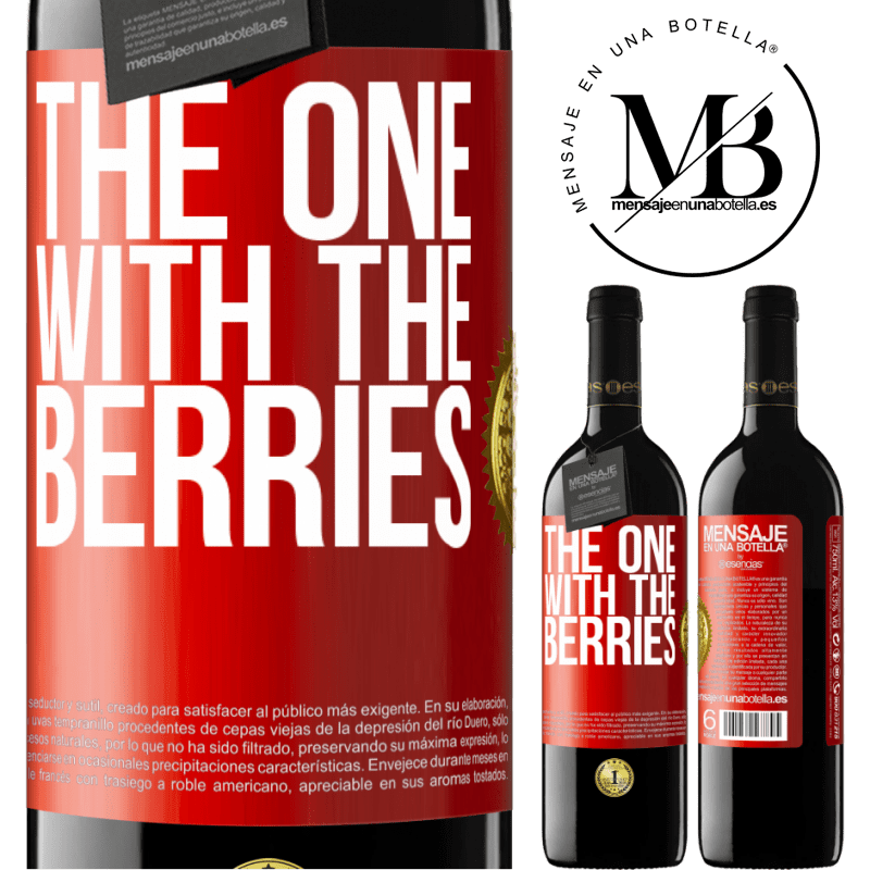 24,95 € Free Shipping | Red Wine RED Edition Crianza 6 Months The one with the berries Red Label. Customizable label Aging in oak barrels 6 Months Harvest 2018 Tempranillo
