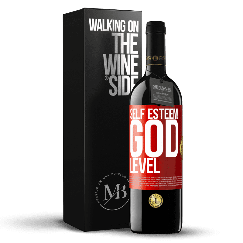 24,95 € Free Shipping   Red Wine RED Edition Crianza 6 Months Self esteem! God level Red Label. Customizable label Aging in oak barrels 6 Months Harvest 2018 Tempranillo