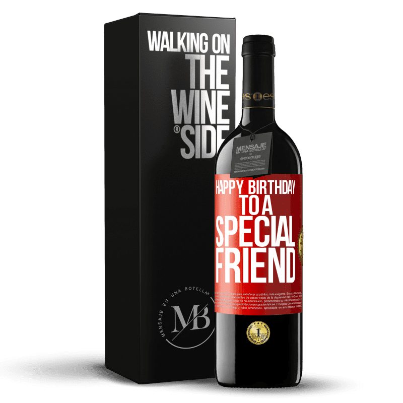 24,95 € Free Shipping | Red Wine RED Edition Crianza 6 Months Happy birthday to a special friend Red Label. Customizable label Aging in oak barrels 6 Months Harvest 2018 Tempranillo