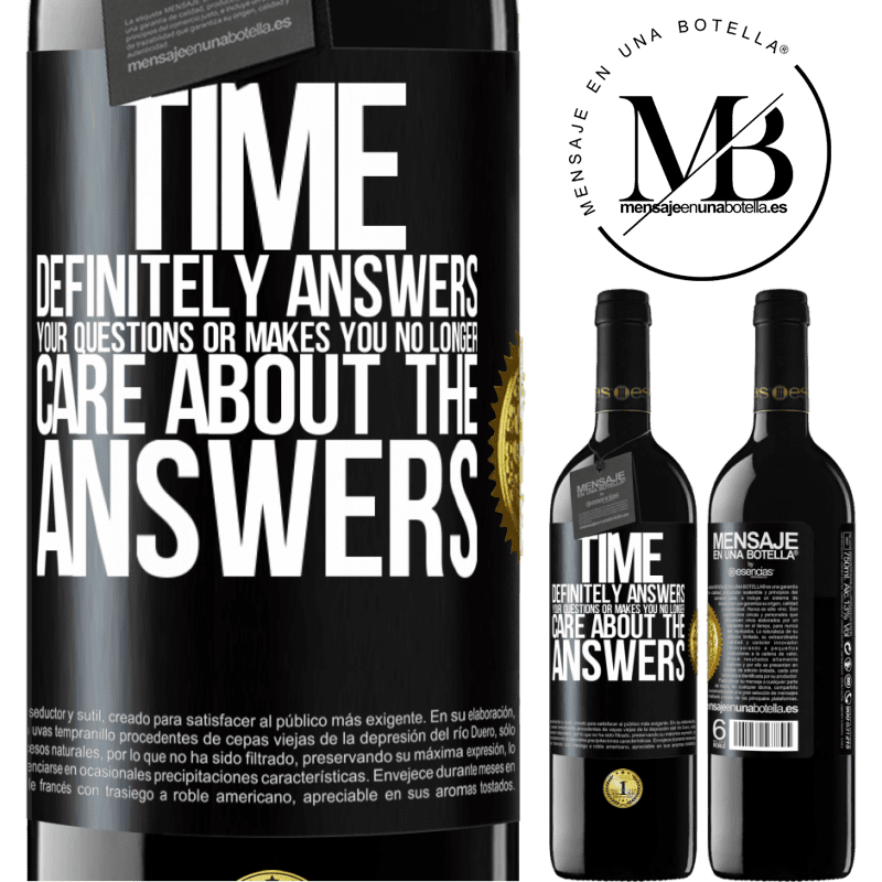 24,95 € Free Shipping | Red Wine RED Edition Crianza 6 Months Time definitely answers your questions or makes you no longer care about the answers Black Label. Customizable label Aging in oak barrels 6 Months Harvest 2018 Tempranillo