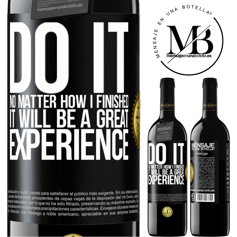 24,95 € Free Shipping | Red Wine RED Edition Crianza 6 Months Do it, no matter how I finished, it will be a great experience Black Label. Customizable label Aging in oak barrels 6 Months Harvest 2018 Tempranillo