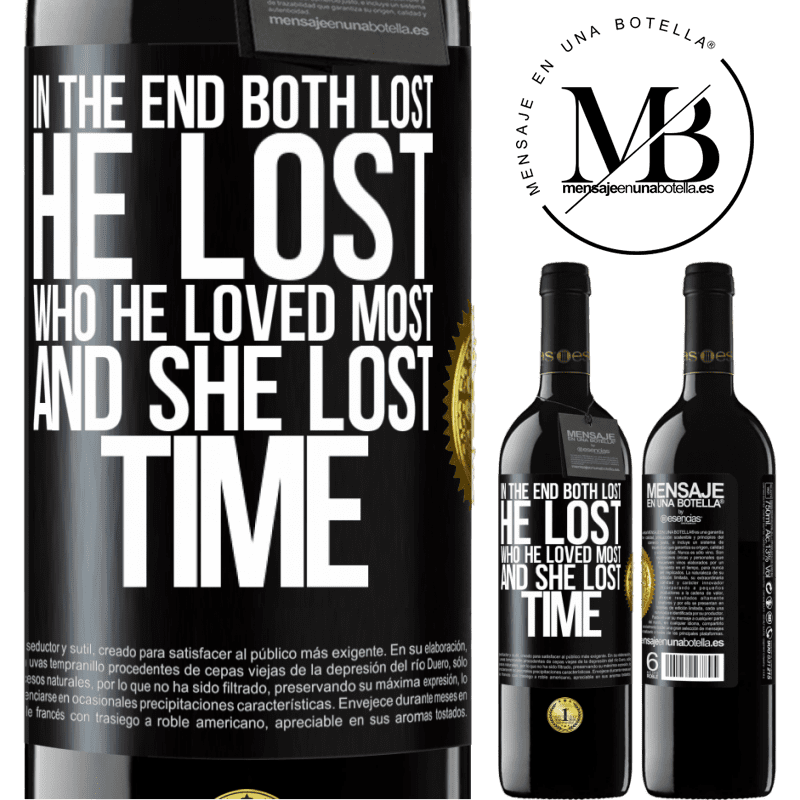 24,95 € Free Shipping | Red Wine RED Edition Crianza 6 Months In the end, both lost. He lost who he loved most, and she lost time Black Label. Customizable label Aging in oak barrels 6 Months Harvest 2018 Tempranillo