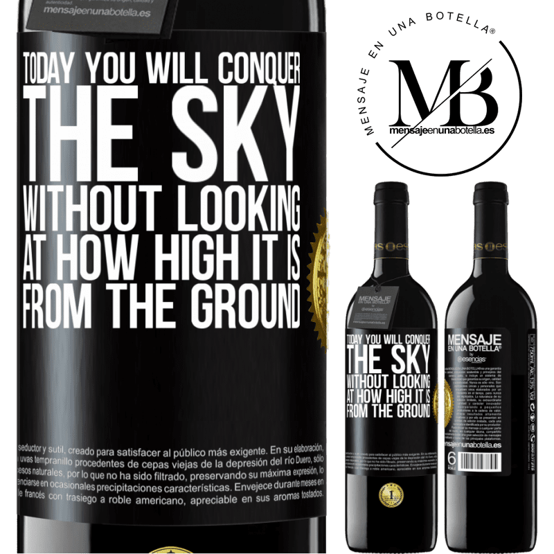 24,95 € Free Shipping | Red Wine RED Edition Crianza 6 Months Today you will conquer the sky, without looking at how high it is from the ground Black Label. Customizable label Aging in oak barrels 6 Months Harvest 2018 Tempranillo
