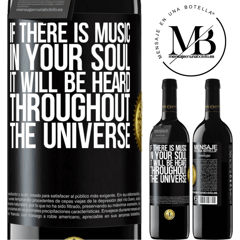 24,95 € Free Shipping | Red Wine RED Edition Crianza 6 Months If there is music in your soul, it will be heard throughout the universe Black Label. Customizable label Aging in oak barrels 6 Months Harvest 2018 Tempranillo