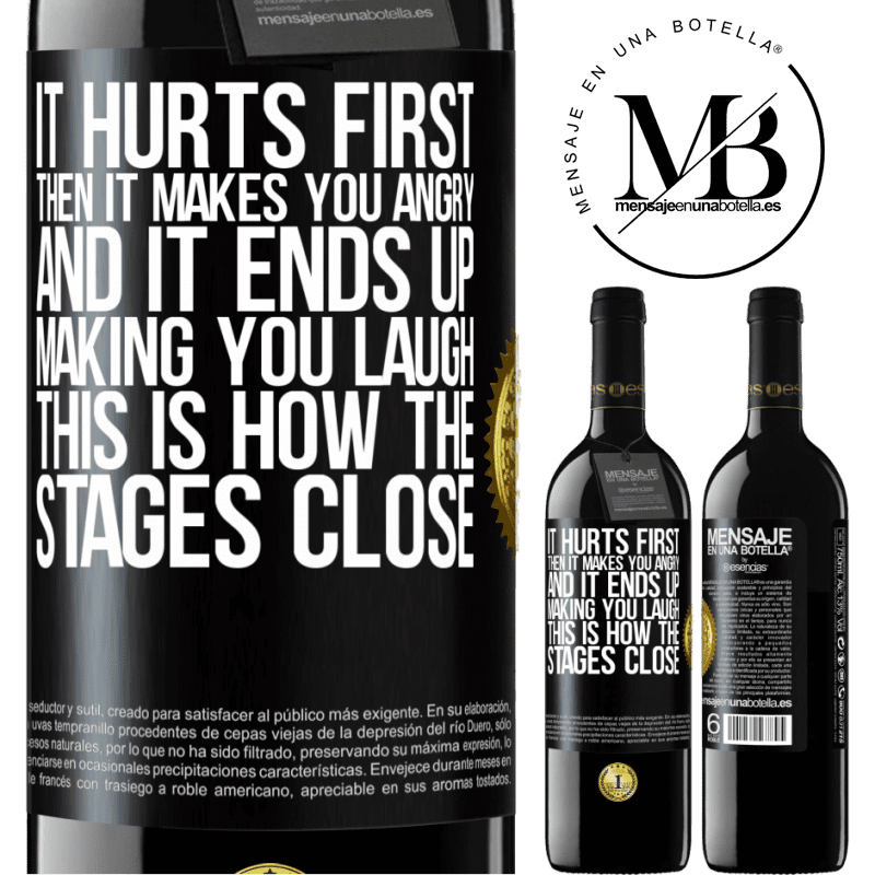 24,95 € Free Shipping | Red Wine RED Edition Crianza 6 Months It hurts first, then it makes you angry, and it ends up making you laugh. This is how the stages close Black Label. Customizable label Aging in oak barrels 6 Months Harvest 2018 Tempranillo