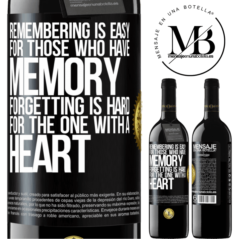 24,95 € Free Shipping | Red Wine RED Edition Crianza 6 Months Remembering is easy for those who have memory. Forgetting is hard for the one with a heart Black Label. Customizable label Aging in oak barrels 6 Months Harvest 2018 Tempranillo