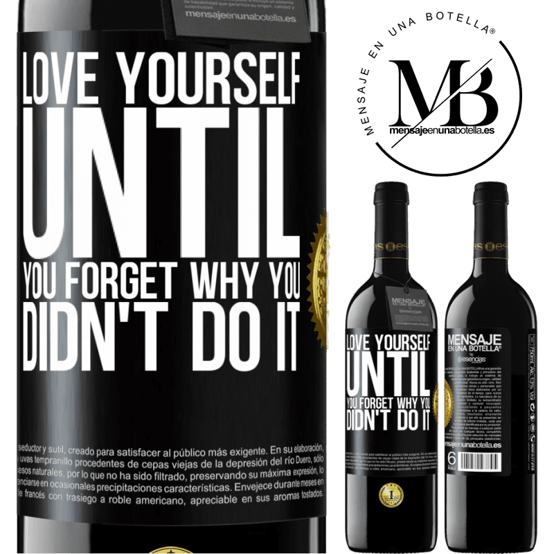24,95 € Free Shipping | Red Wine RED Edition Crianza 6 Months Love yourself, until you forget why you didn't do it Black Label. Customizable label Aging in oak barrels 6 Months Harvest 2018 Tempranillo