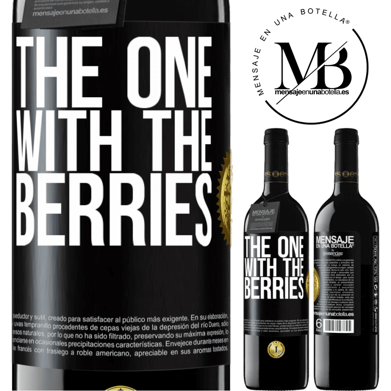 24,95 € Free Shipping | Red Wine RED Edition Crianza 6 Months The one with the berries Black Label. Customizable label Aging in oak barrels 6 Months Harvest 2018 Tempranillo