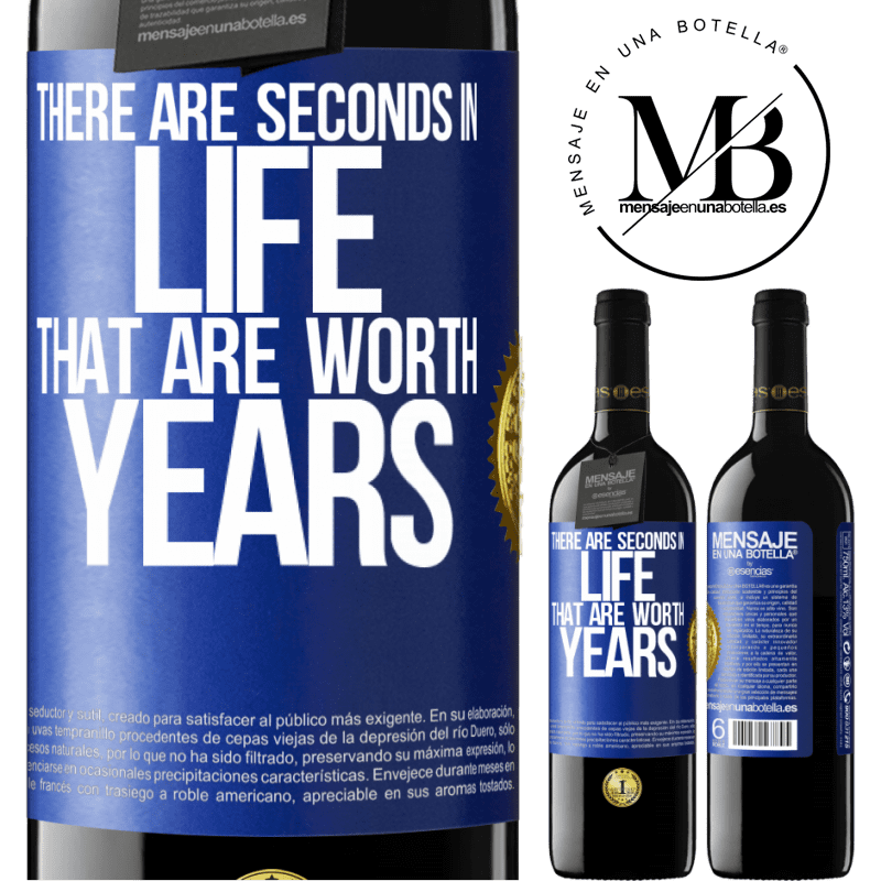 24,95 € Free Shipping   Red Wine RED Edition Crianza 6 Months There are seconds in life that are worth years Blue Label. Customizable label Aging in oak barrels 6 Months Harvest 2018 Tempranillo