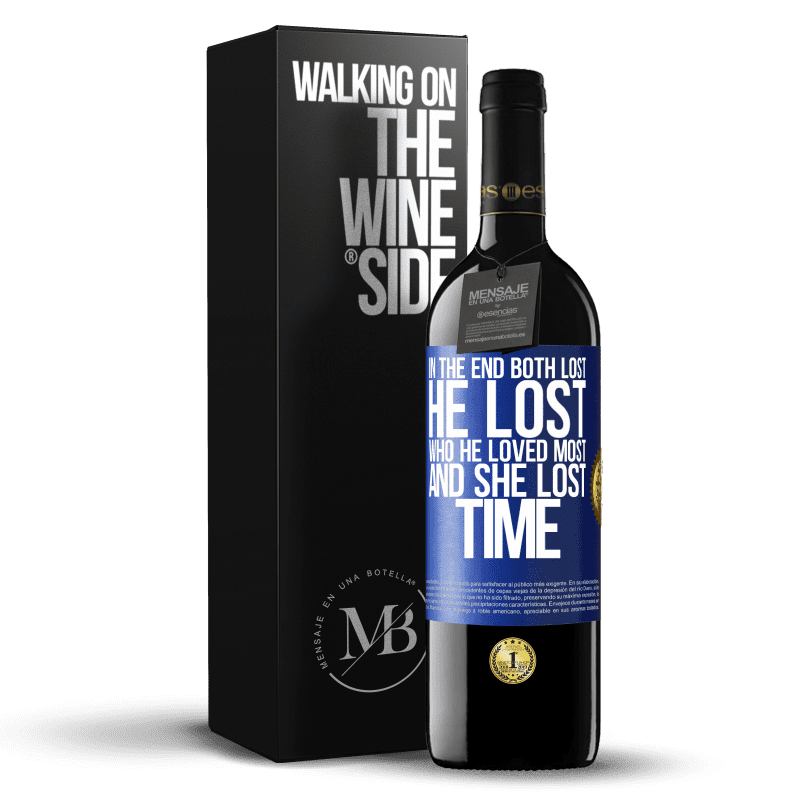24,95 € Free Shipping | Red Wine RED Edition Crianza 6 Months In the end, both lost. He lost who he loved most, and she lost time Blue Label. Customizable label Aging in oak barrels 6 Months Harvest 2018 Tempranillo