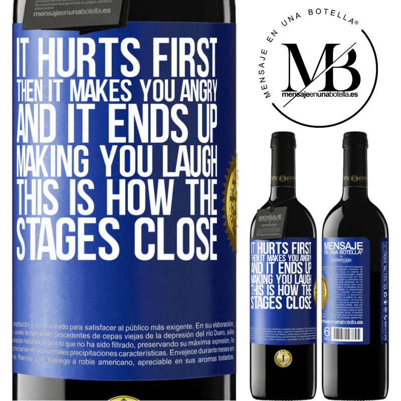 24,95 € Free Shipping | Red Wine RED Edition Crianza 6 Months It hurts first, then it makes you angry, and it ends up making you laugh. This is how the stages close Blue Label. Customizable label Aging in oak barrels 6 Months Harvest 2018 Tempranillo
