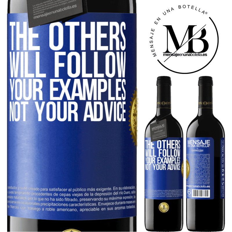 24,95 € Free Shipping | Red Wine RED Edition Crianza 6 Months The others will follow your examples, not your advice Blue Label. Customizable label Aging in oak barrels 6 Months Harvest 2018 Tempranillo