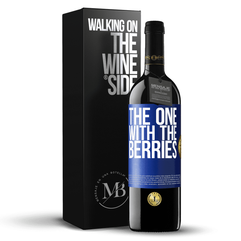 24,95 € Free Shipping | Red Wine RED Edition Crianza 6 Months The one with the berries Blue Label. Customizable label Aging in oak barrels 6 Months Harvest 2018 Tempranillo