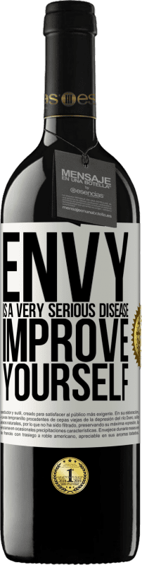 24,95 € Free Shipping | Red Wine RED Edition Crianza 6 Months Envy is a very serious disease, improve yourself White Label. Customizable label Aging in oak barrels 6 Months Harvest 2018 Tempranillo