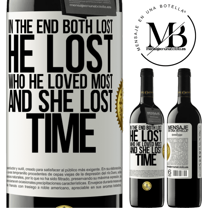 24,95 € Free Shipping | Red Wine RED Edition Crianza 6 Months In the end, both lost. He lost who he loved most, and she lost time White Label. Customizable label Aging in oak barrels 6 Months Harvest 2018 Tempranillo