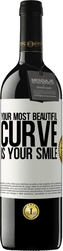24,95 € Free Shipping   Red Wine RED Edition Crianza 6 Months Your most beautiful curve is your smile White Label. Customizable label Aging in oak barrels 6 Months Harvest 2018 Tempranillo